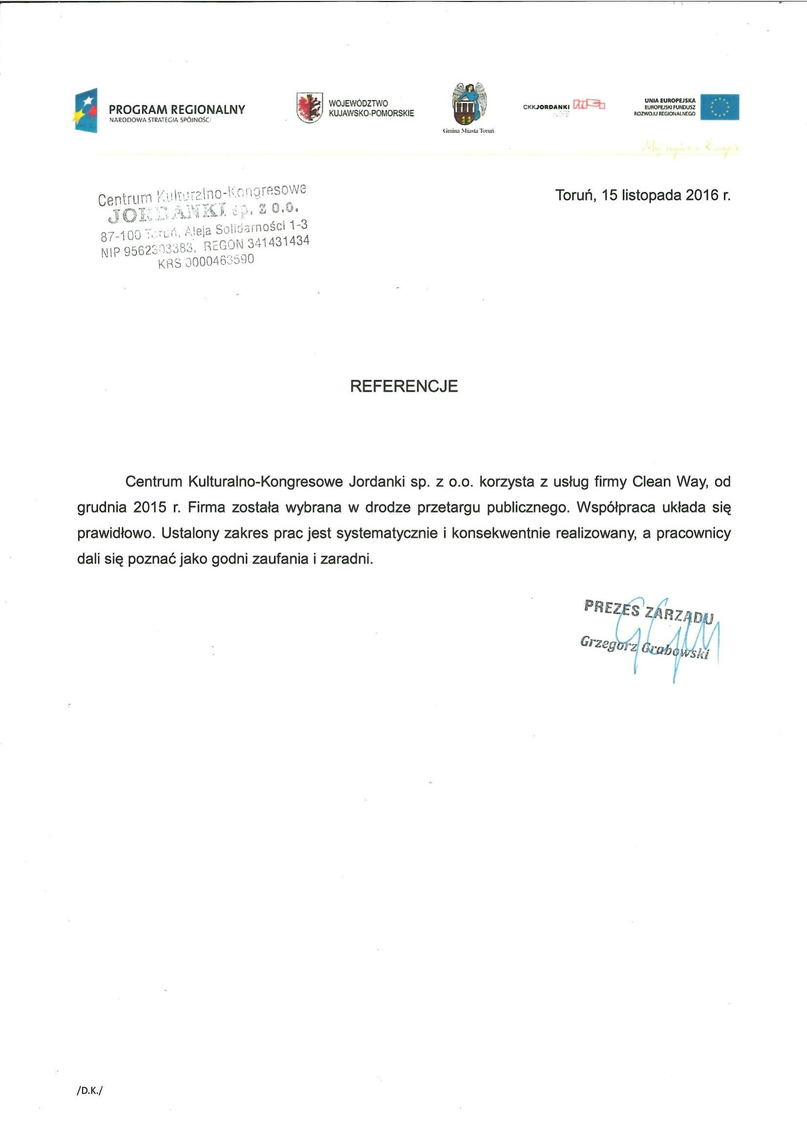 Centrum Kulturalno-Kongresowe Jordanki sp. z o.o.
